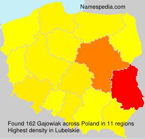 Surname Gajowiak in Poland