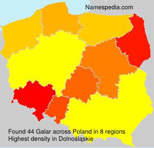 Surname Galar in Poland