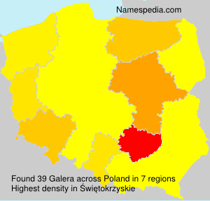 Surname Galera in Poland