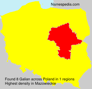 Surname Galian in Poland