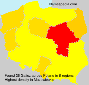 Surname Galicz in Poland