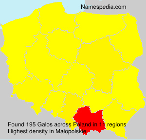 Surname Galos in Poland