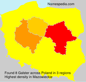 Surname Galster in Poland