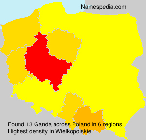 Surname Ganda in Poland