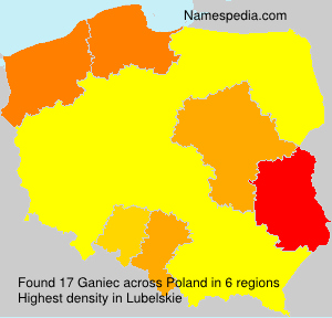 Surname Ganiec in Poland