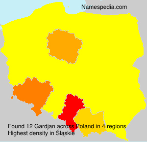 Surname Gardjan in Poland