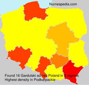 Surname Gardulski in Poland