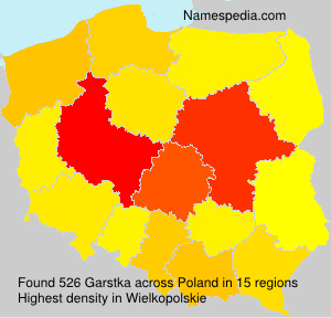 Surname Garstka in Poland