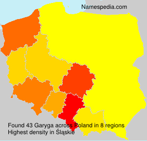 Surname Garyga in Poland