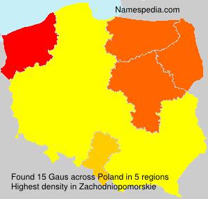 Familiennamen Gaus - Poland