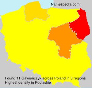 Familiennamen Gawienczyk - Poland