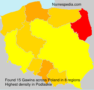 Surname Gawina in Poland