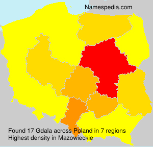 Surname Gdala in Poland