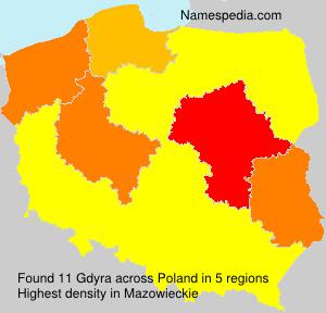 Surname Gdyra in Poland