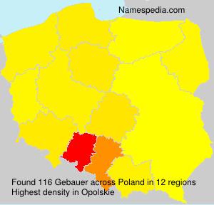 Surname Gebauer in Poland