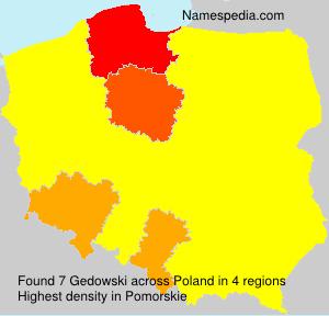 Surname Gedowski in Poland