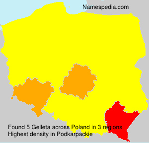 Surname Gelleta in Poland