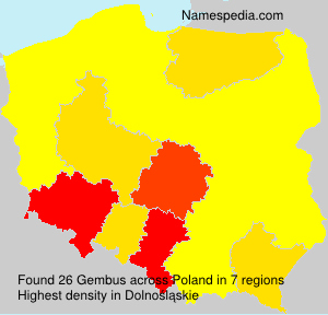 Surname Gembus in Poland