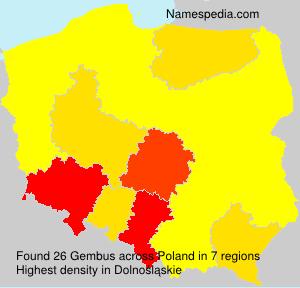 Surname Gembus in Poland