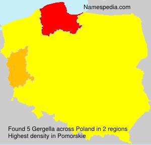 Surname Gergella in Poland