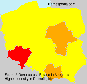 Surname Gerot in Poland