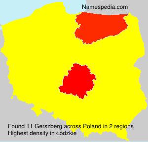 Surname Gerszberg in Poland