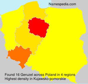 Familiennamen Geruzel - Poland