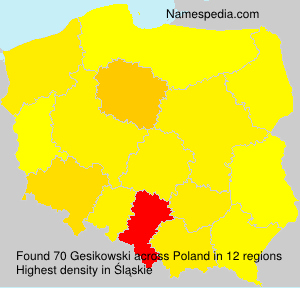 Surname Gesikowski in Poland