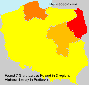 Surname Giaro in Poland