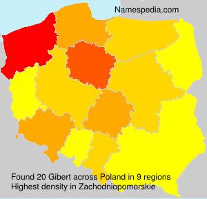Surname Gibert in Poland