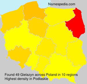 Surname Gielazyn in Poland