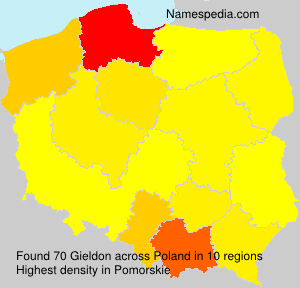 Surname Gieldon in Poland