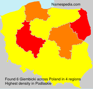 Surname Giembicki in Poland