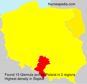 Surname Giemula in Poland