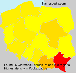 Surname Giermanski in Poland