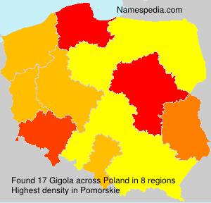 Surname Gigola in Poland