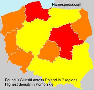 Surname Gilinski in Poland
