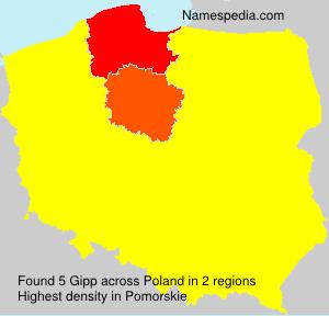 Surname Gipp in Poland