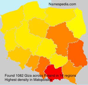 Familiennamen Giza - Poland