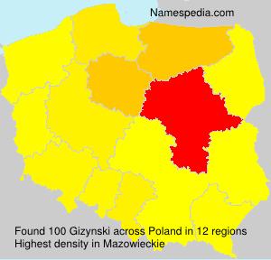 Surname Gizynski in Poland