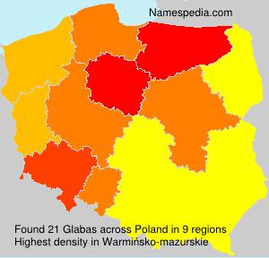 Surname Glabas in Poland