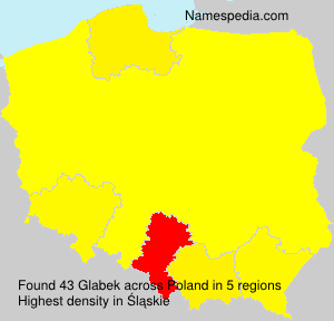 Surname Glabek in Poland