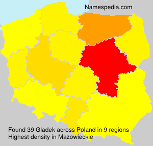 Surname Gladek in Poland