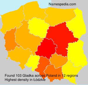 Surname Gladka in Poland