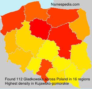 Surname Gladkowska in Poland