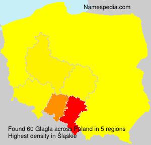 Surname Glagla in Poland
