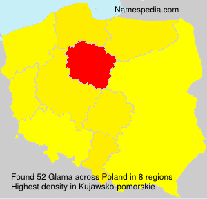 Surname Glama in Poland