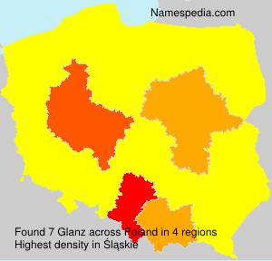 Surname Glanz in Poland
