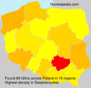 Surname Glina in Poland