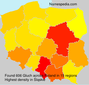 Surname Gluch in Poland